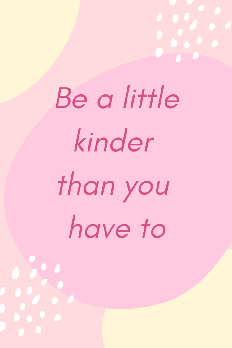 Things Helen Loves, image with quote 'Be a little Kinder than you have to'
