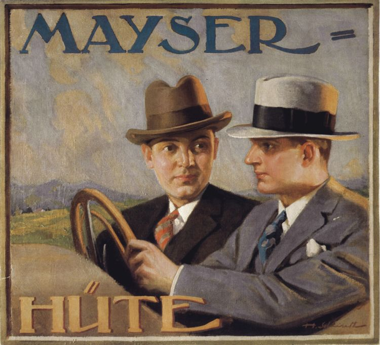 Things Helen Loves, vintage advertising for the Mayser hat company