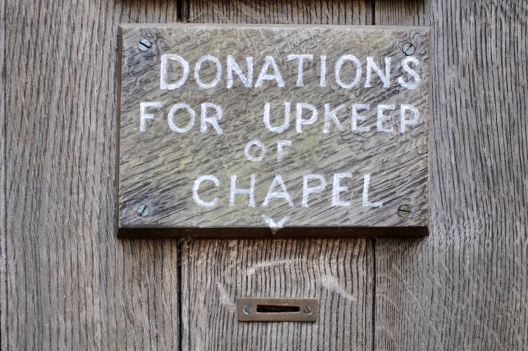 Things Helen Loves, donation box on Chapel doorl