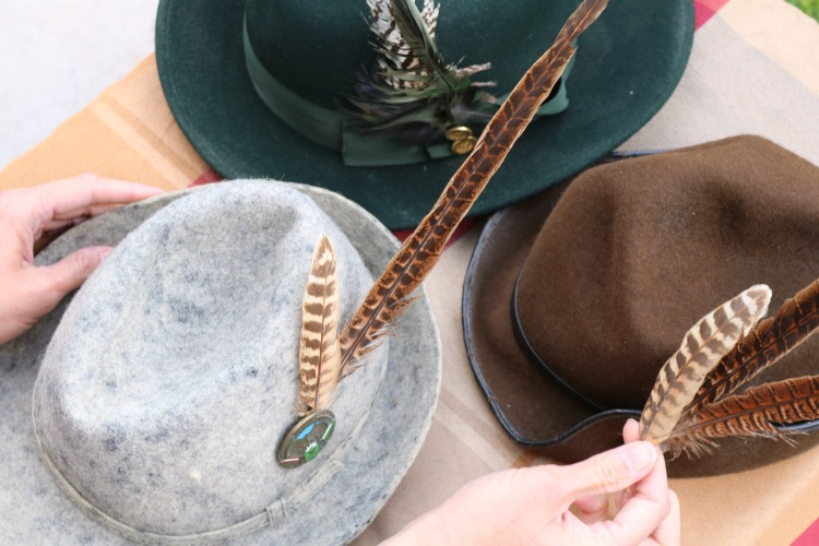 Things Helen Loves,Image of three alpine hats with feathers