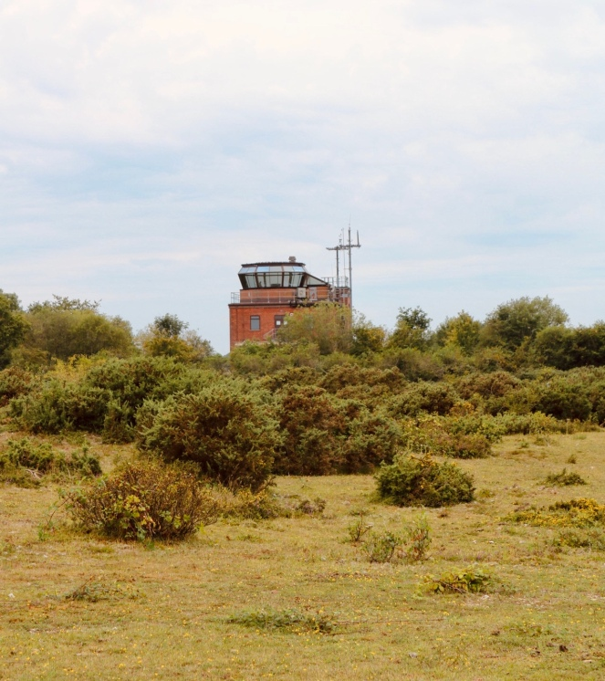 Things Helen Loves, image of Greenham Control Tower surrounded by green space