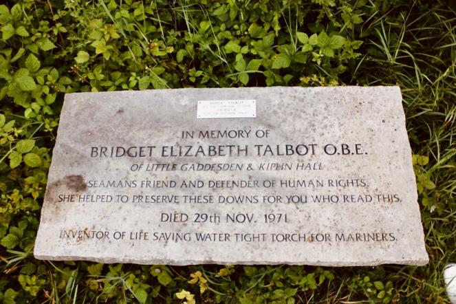 Things Helen Loves, image of memorial stone for Bridget Talbot