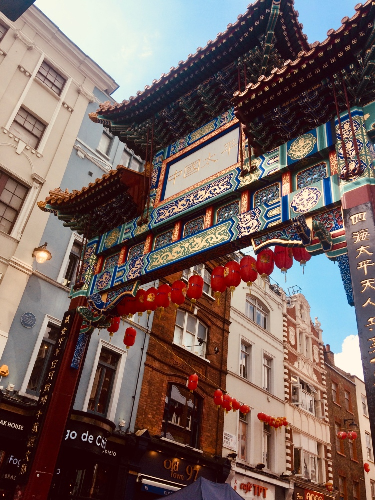 Things Helen Loves, colourful image of gate at entrance to Chinatown London