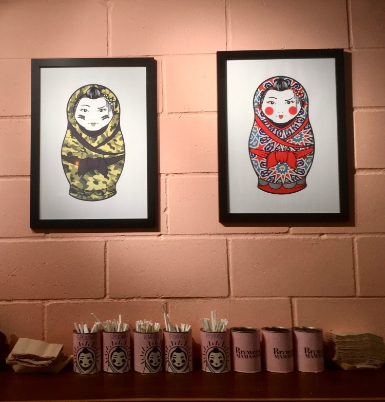 Things Helen Loves, image of branding and interior inside Mamasons Ice cream shop.